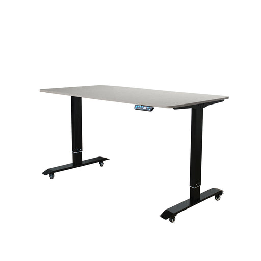 AB-52 Ergonomic 52-in 3 Memory Buttons LED Electric Automatic Height Adjustable Sit to Stand Work Office Desk with Black Legs