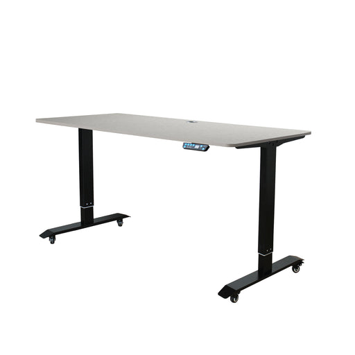 AB-57 Ergonomic 57-in 3 Memory Buttons LED Electric Automatic Height Adjustable Sit to Stand Work Office Desk with Black Legs