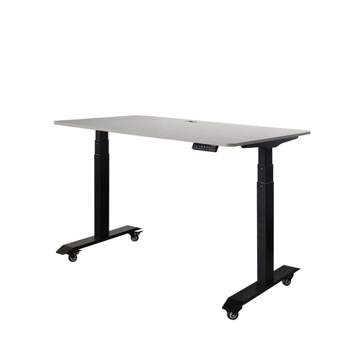 AB3-52 Ergonomic 52-in 3 Memory Buttons LED Electric Automatic Height Adjustable Sit to Stand Work Office Desk with Black Legs