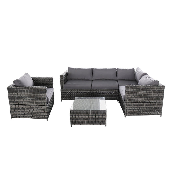 Azure Sky AS15125 4 Piece Wicker Set, Gray