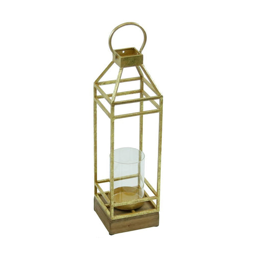 Magari Furniture MA371 Lantern Candleholder, Small, Rustic Gold