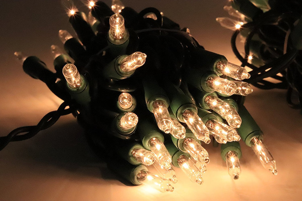 Baner Garden 100-Count LED Lights Clear Christmas Green Wire-Long Mountains