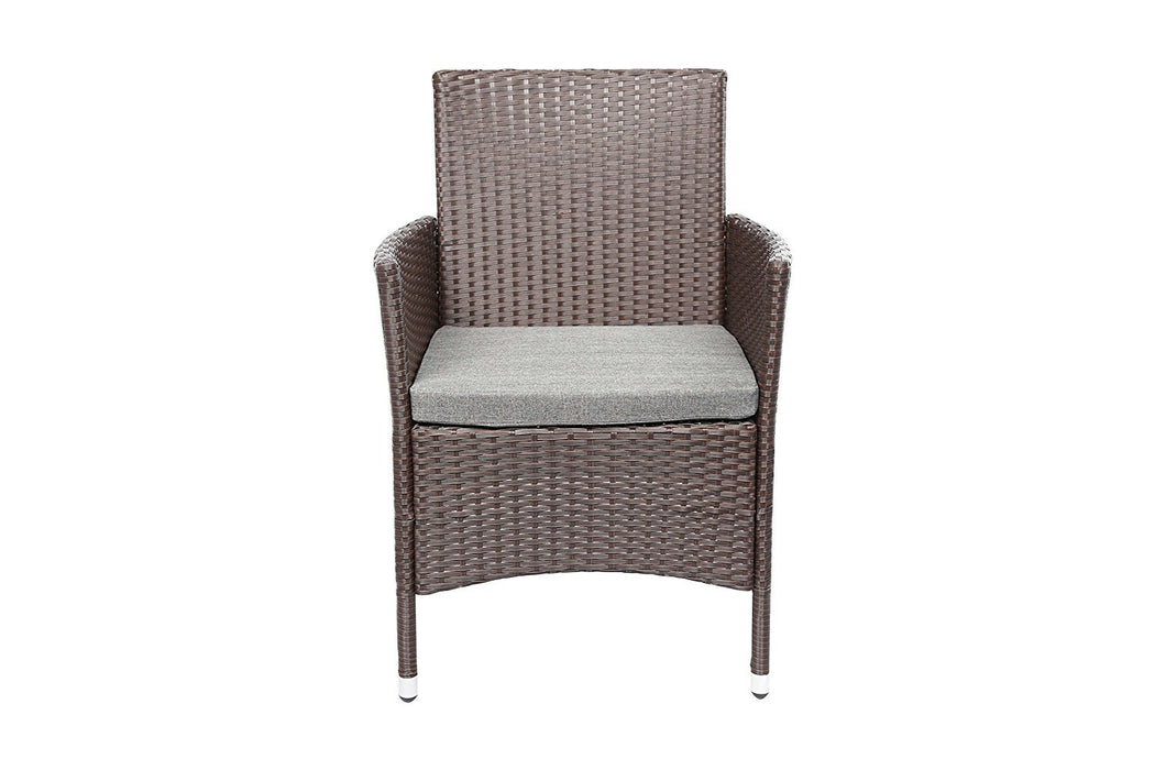 Baner Garden 3Piece Outdoor Furniture Complete Patio Wicker Rattan Conversation Set, (Q16-CH), Chocolate-Long Mountains