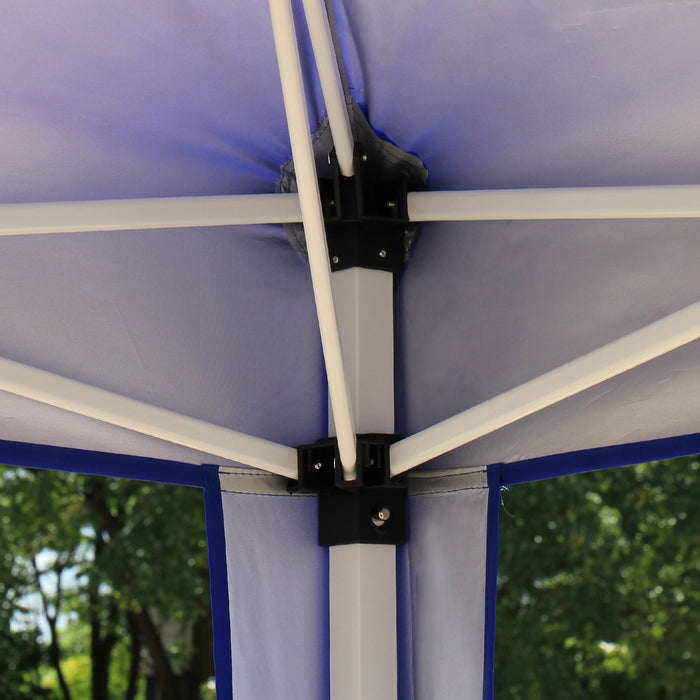 Baner Garden Gazebo CH-A33BLUE Instant Canopy, blue-Long Mountains