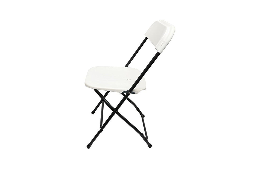Baner Garden Y18 Modern Living Room Dining Plastic Folding Chair (SET OF 2), Full, Black-Long Mountains