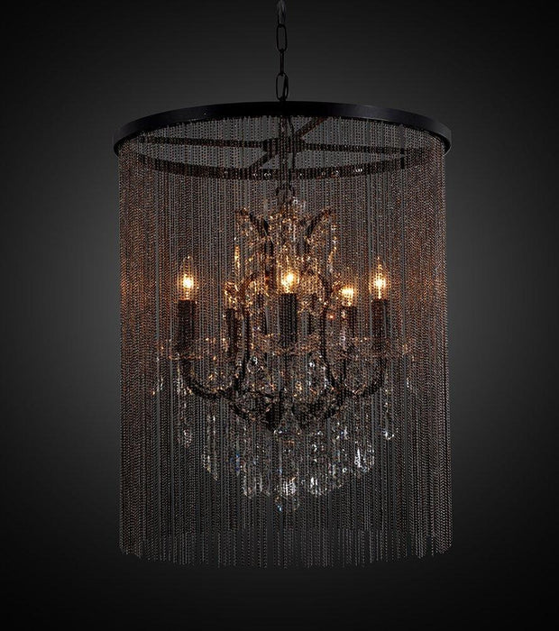 Magari Furniture D6144-5DR Cascata I Candle-Style Chandelier with Crystals Modern-Long Mountains