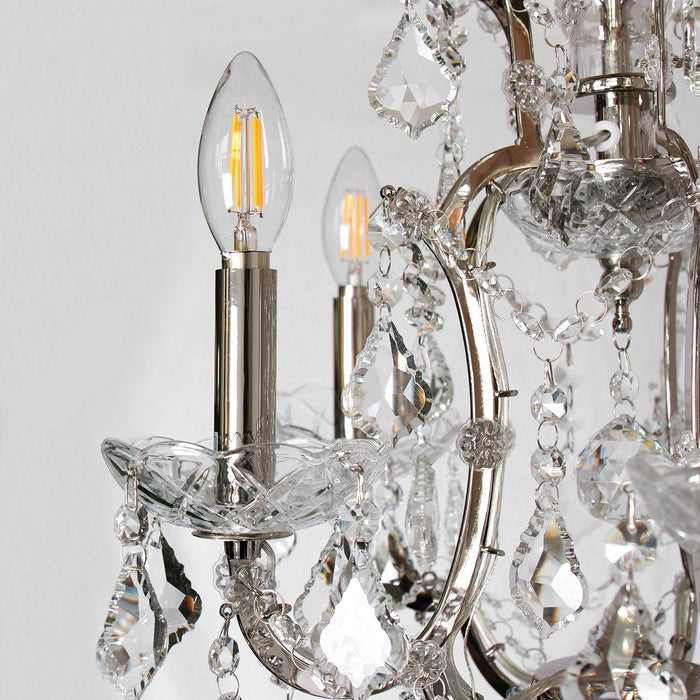 Magari Furniture D6144-5N Cascata I Candle-Style Chandelier with Crystals Modern-Long Mountains