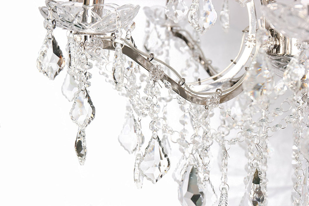 Magari Furniture D6144-8+4N Cascata II Candle-Style Chandelier with Crystals Modern-Long Mountains