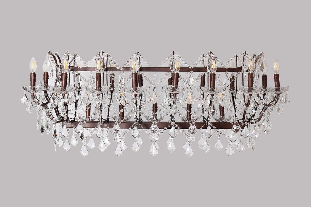 Magari Furniture D6148-21OR Cascata III Candle-Style Chandelier with Crystals Modern-Long Mountains