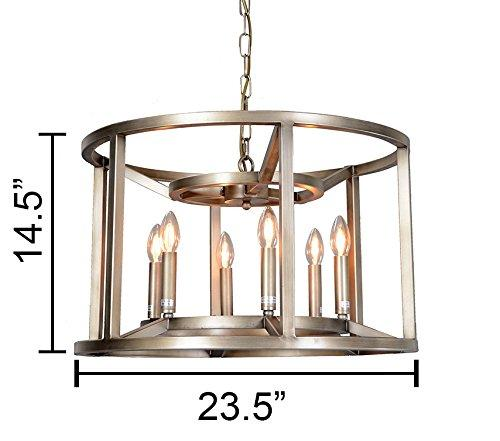 Magari Furniture D6291-6SBL Reticolo Candle-Style Chandelier Industrial-Long Mountains