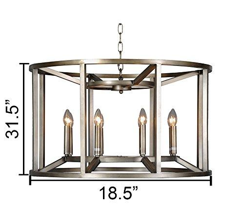 Magari Furniture D6291-8SBL Reticolo Candle-Style Chandelier Industrial-Long Mountains