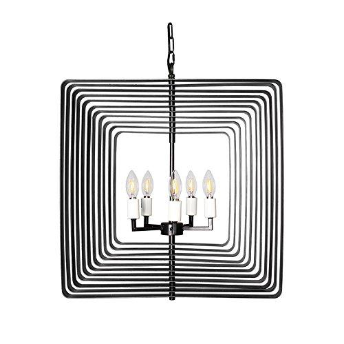 Magari Furniture D6292-5BZ Torcia II Candle-Syle Chandelier Modern Style-Long Mountains