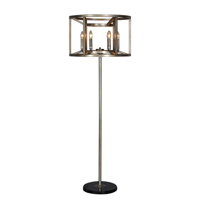 Magari Furniture L6291-6SBL Reticolo Candle-Style Floor Lamp Industrial-Long Mountains