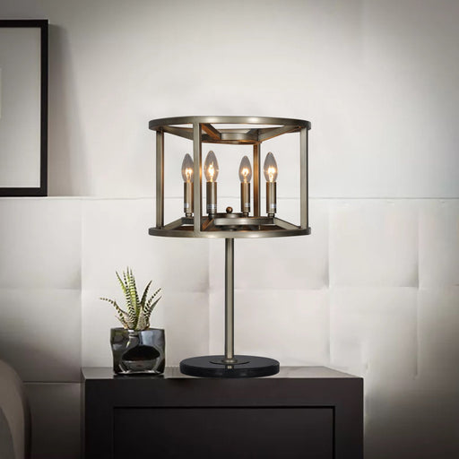 Magari Furniture T6291-4SBL Reticolo Candle-Style Table Lamp Industrial-Long Mountains