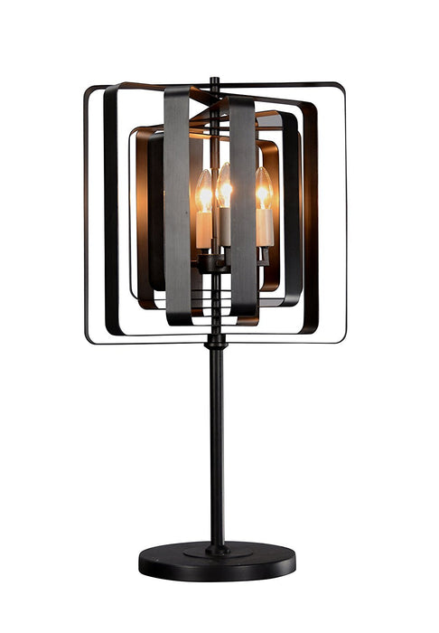 Magari Furniture T6292-4BZ Torcia Candle-Style Table Lamp Modern-Long Mountains