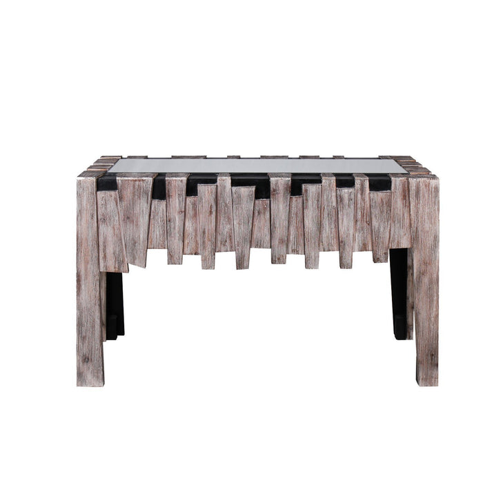 Magari HJB16262 Fiaba Collection Mirrored Glass Top Console Table-Long Mountains