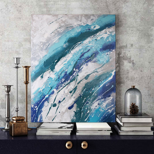Magari Wall Décor CB-5737 Into The Deep Acrylic Painting-Long Mountains
