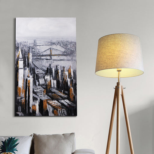 Magari Wall Décor F0097 Golden City II Oil Painting-Long Mountains
