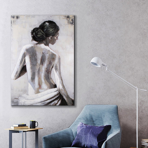 Magari Wall Décor F0526 View of Her Back Oil Painting-Long Mountains