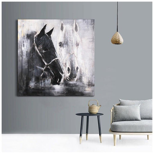 Magari Wall Décor F0656 Horse Oil Painting-Long Mountains