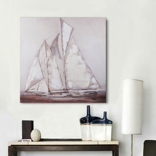 Magari Wall Décor F0972 Sail I Oil Painting-Long Mountains