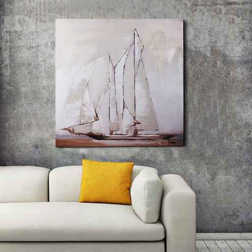 Magari Wall Décor F0973 Sail Oil Painting-Long Mountains