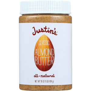 Justins Nut Butter Almond Butter - Classic -jar - 16 Oz - Case Of 6