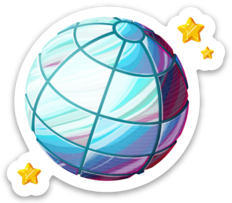 Stellar Disco Ball Sticker (5pk)