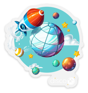 Disco Above and Beyond Sticker (5pk)