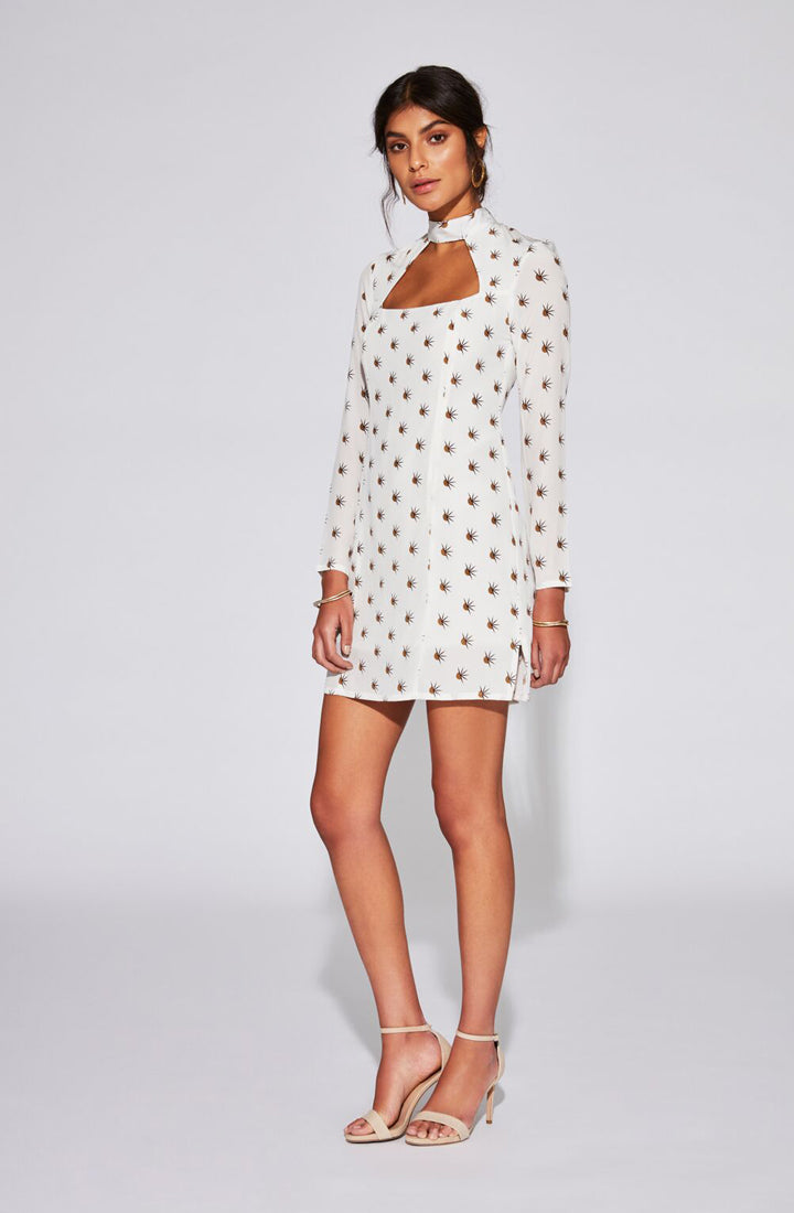 Solene Cut Out Long Sleeve Mini