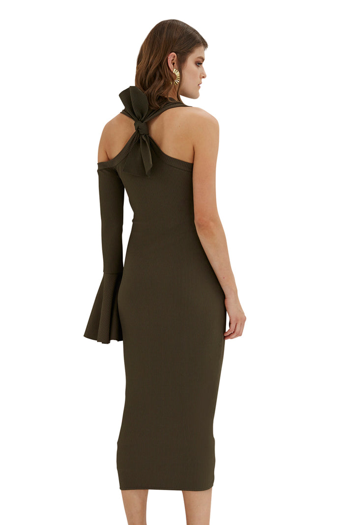 Bow Back Flare Pencil Dress