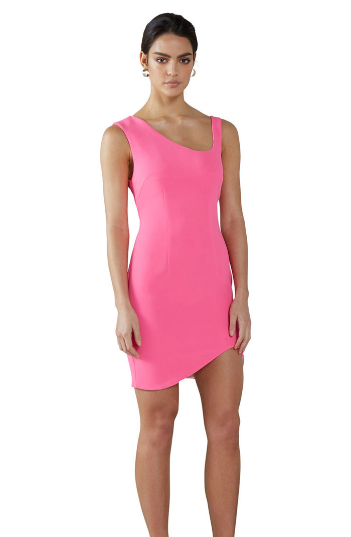 Pink Punch Shoulder Mini Dress