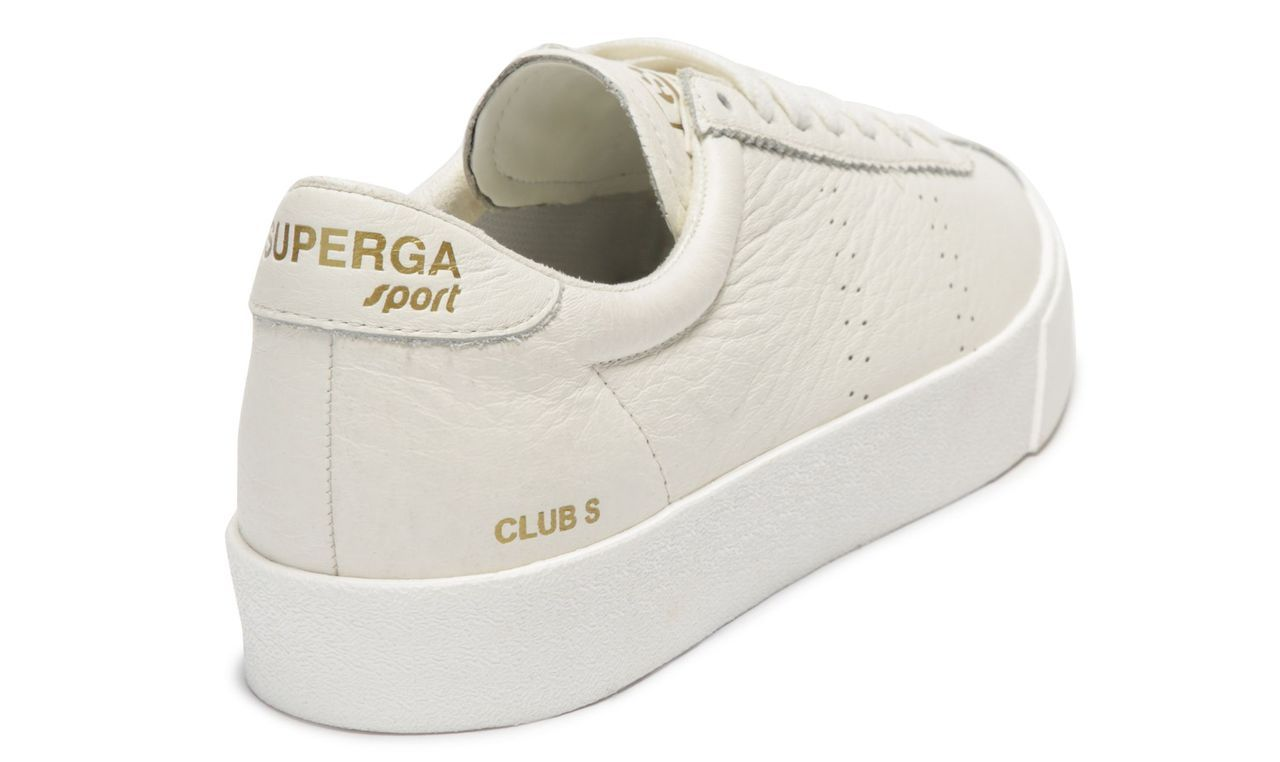 2843-CLUBS TUMBLED LEATHER WHITE CLOUD