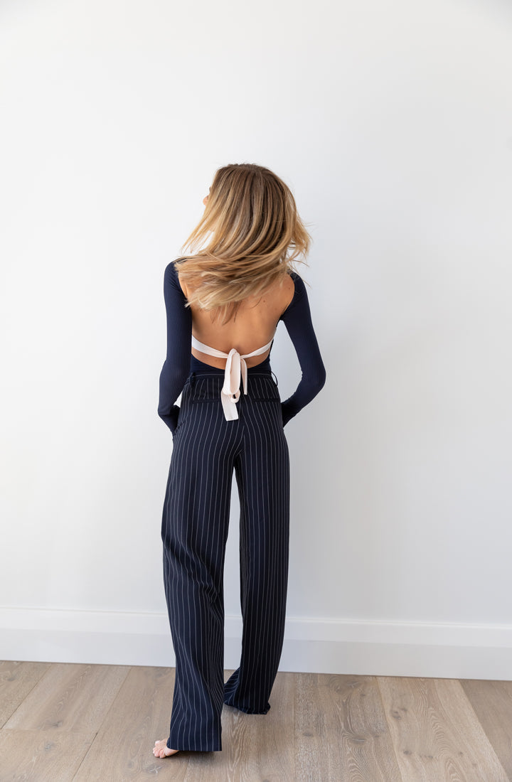Eden Pinstripe Slouch Pant