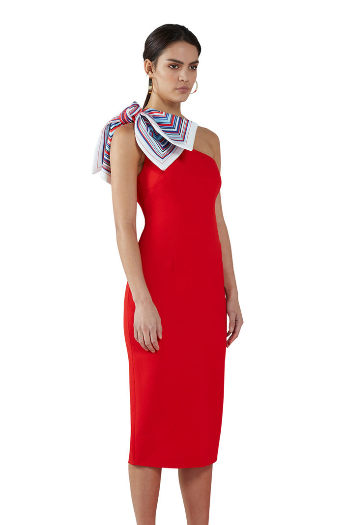Chilli Sculpture Midi Dress
