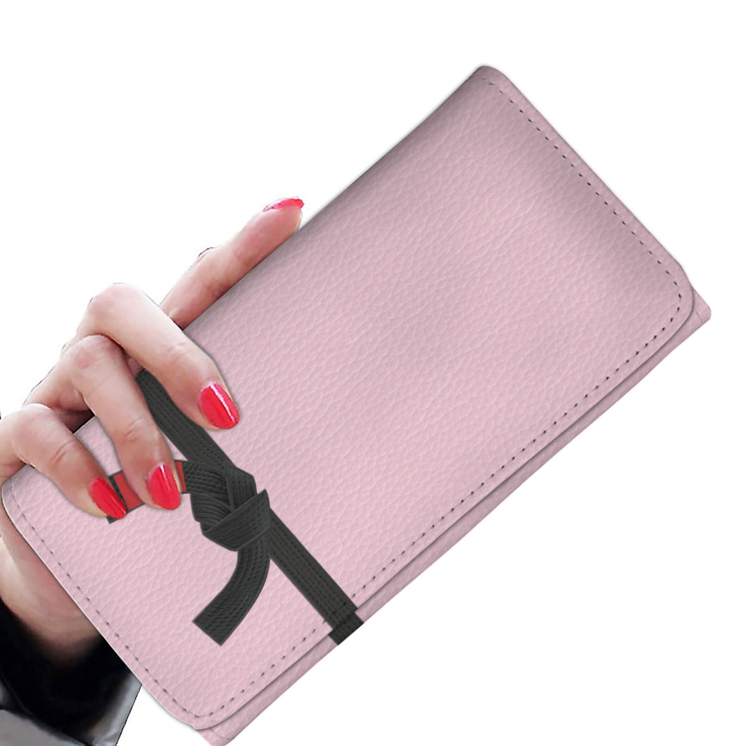 Womens (Black Belt) Tri-Fold Wallet
