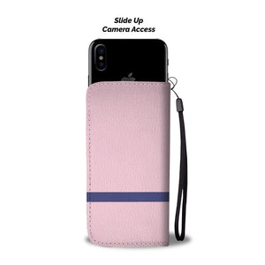 Womens Blue Belt Phone-Wallet Case