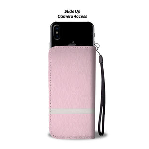 Womens White Belt Phone-Wallet Case