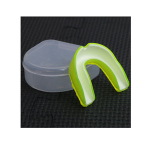 Dual Colored High Quality Silicone Mouthguard in 3 Color Variations.