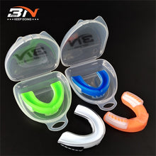 High Quality BN Mouth Guard. Comes in 2 Sizes and 4 Assorted Colors.