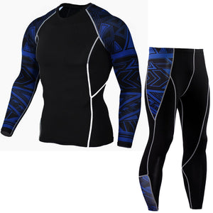 Mens Rash Guard + Pants (Spats) Sets