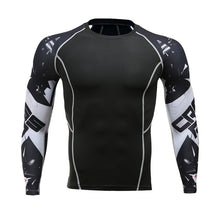 Fitness Men Pro Compression Shirts MMA Rashguard Skin Base Layer Workout Long Sleeves T-shirt Crossfit Jiu Jitsu Tee Shirt homme