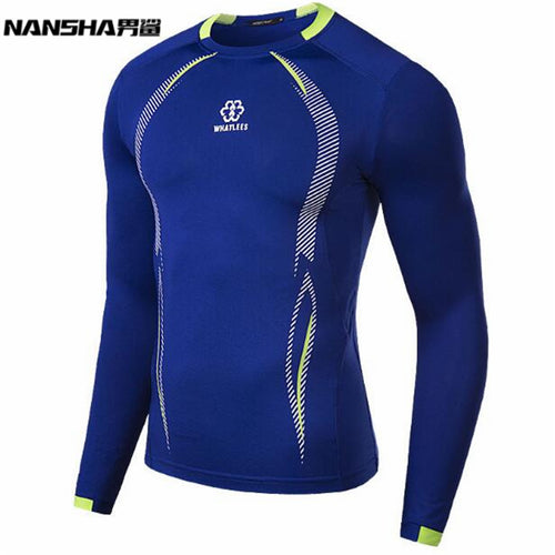 Nansha Mens Long Sleeve Compression Rash Guard. Sizes M-XXL