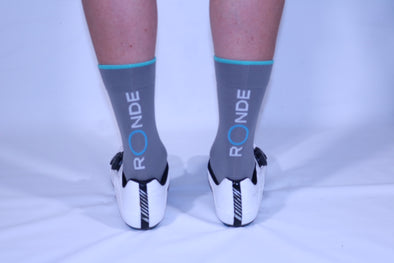Ronde Renner Race Sock - Grey