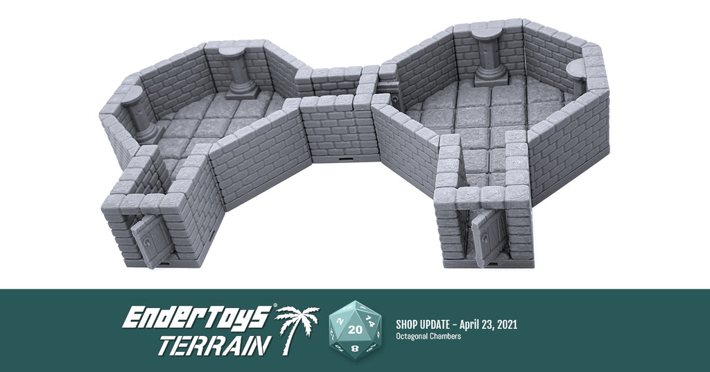 Shop update - Locking Dungeon Tiles - Octagonal Chambers
