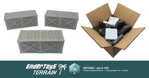 Shop update - Futuristic Shipping Containers and Locking Dungeon Tile Value Boxes