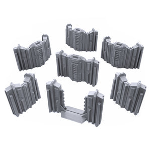 Tall Connecting Barricade Wall Set