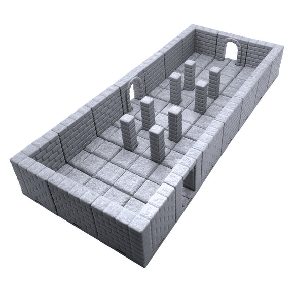 Locking Dungeon Tiles - Pillar Room