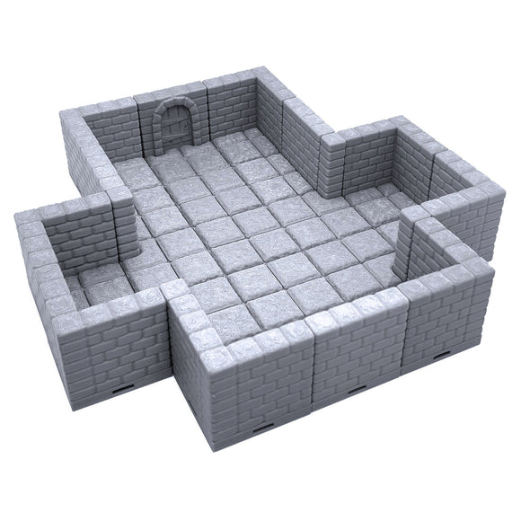 Locking Dungeon Tiles - Cross Chamber