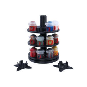 3-Tier Spinning Paint Rack